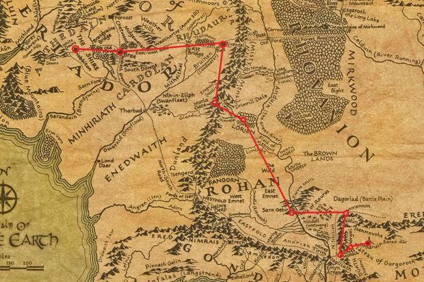 mapa z władcy pierscieni