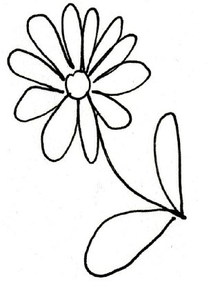 Happy sketches: Flowers with round petals suggest an amicable person while hearts mean you're in love