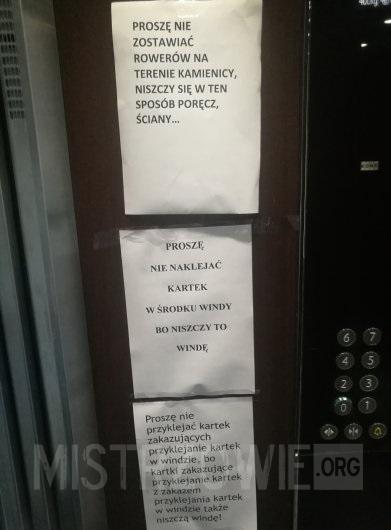 Incepcja w windzie –