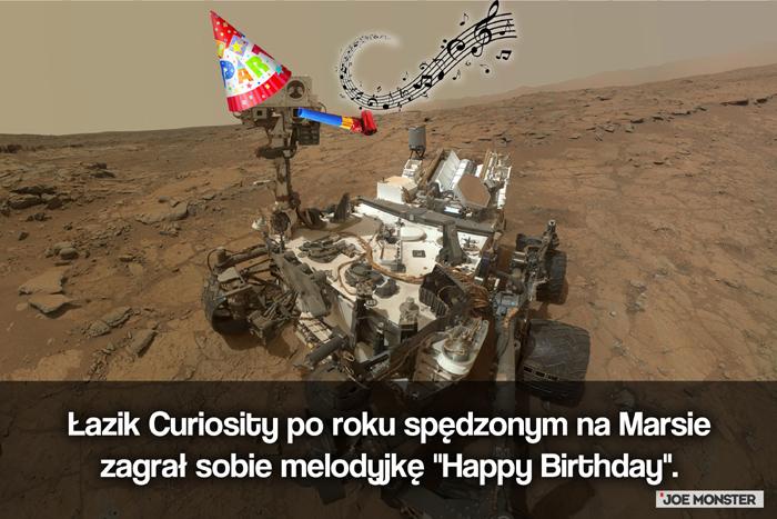 Łazik Curiosity po roku spędzonym na Marsie zagrał sobie melodyjkę