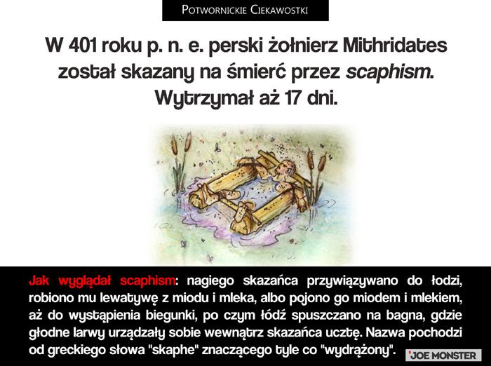 W 401 roku p. n. e. perski żołnierz Mithridates został skazany na śmierć przez