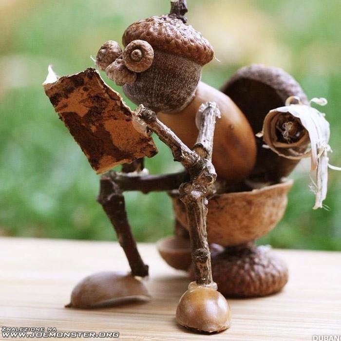 Te robi e ludziki z kasztan w i o dzi joe monster - Acorn and chestnut crafts ...