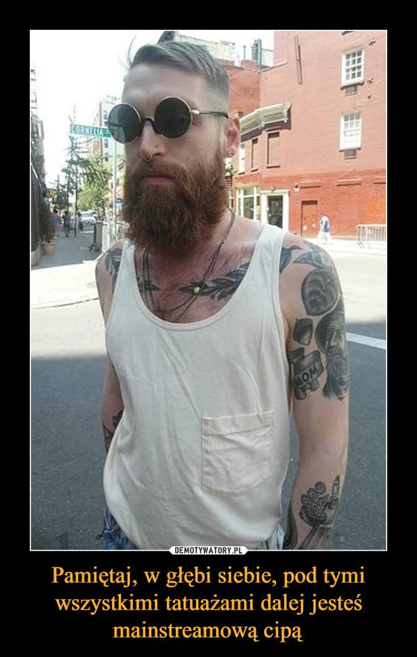 Czarne wąsy cipki