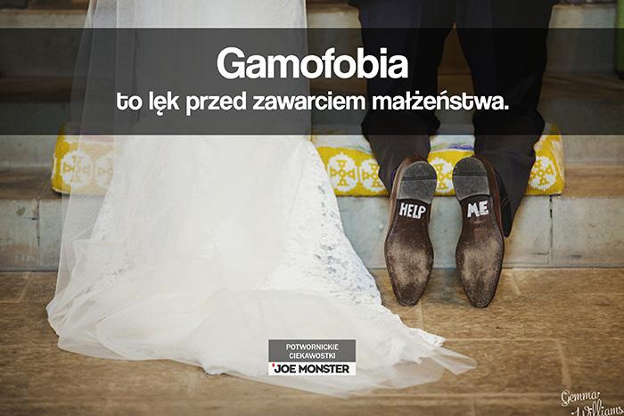 Gamofobia to lęk przed zawarciem małżeństwa.