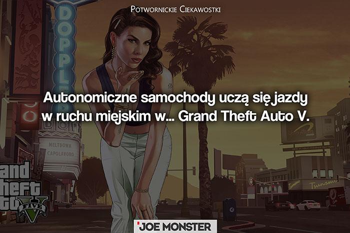 Autonomiczne samochody uczą się jazdy w ruchu miejskim w symulatorze... Grand Theft Auto V.
