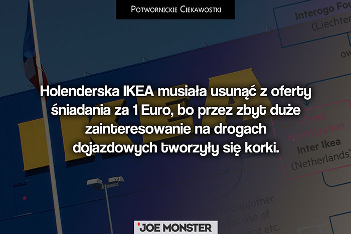 Holenderska IKEA musiała skasować z oferty śniadania za 1 Euro, bo przez zbyt duże zainteresowanie na drogach dojazdowych tworzyły się korki.