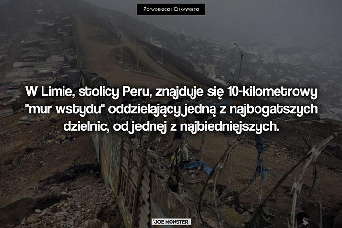 W Limie, stolicy Peru, znajduje się 10-kilometrowy