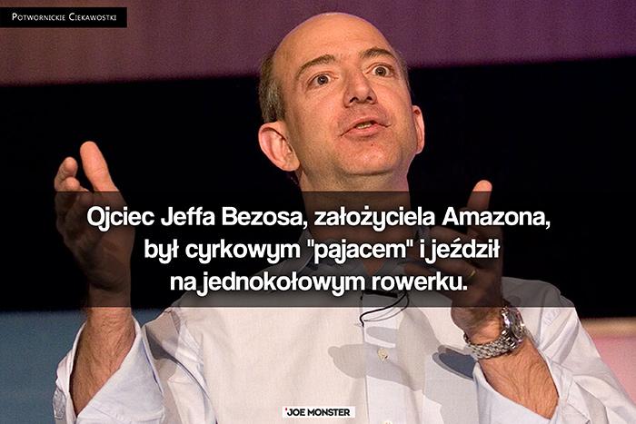 """Ojciec Jeffa Bezosa, założyciela Amazona, był cyrkowym """"pajacem"""" i jeździł na jednokołowym rowerku."""
