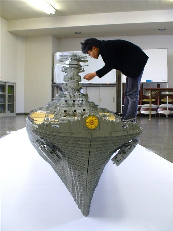 Pancernik Yamato z klocków Lego