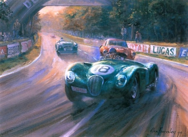 Obrazy olejne z samochodami, by Alan Fearnley