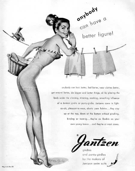 Reklama retro - biustonosze