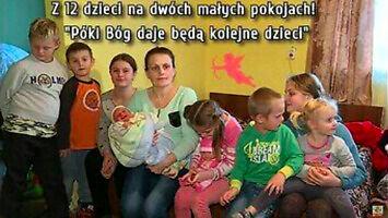 Mają 12 dzieci i żyją w dwóch małych pokojach
