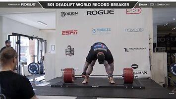 ''Góra'' podnosi 501 kg i pobija rekord świata