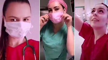 Poznańskie pielęgniarki zrzucają maseczki, żeby pokazać piękny uśmiech