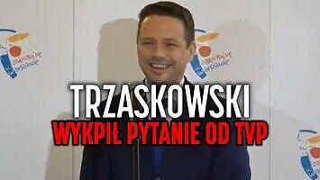 Trzaskowski nie wytrzymał i wybuchnął śmiechem po absurdalnym pytaniu od TVP