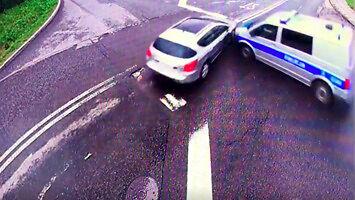 Kolizyjne skrzyżowanie w Andrychowie