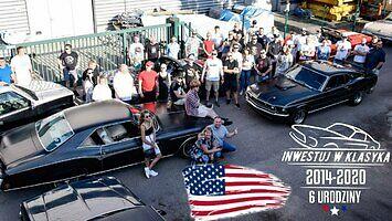 Zlot amerykańskich aut w Warszawie (04.07.2020)