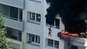 Dwóch braci, ratując się przed pożarem, skoczyło z okna