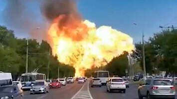 Potężna eksplozja na stacji paliw w Wołgogradzie