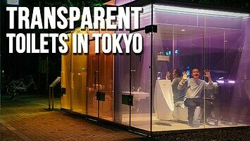 Japońska przezroczysta toaleta