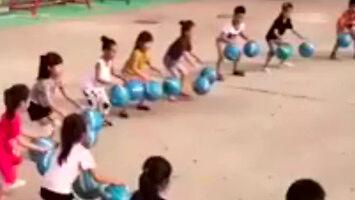 Tak ćwiczą dzieci w Chinach