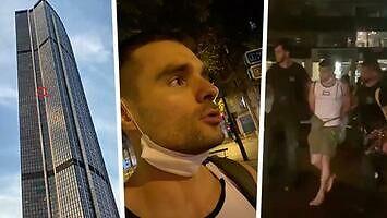 Marcin 'BNT' Banot bez zabezpieczeń wszedł na paryski wieżowiec