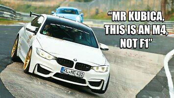 Robert Kubica w BMW M4 na Nordschleife