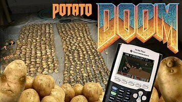 Czy da się uruchomić Dooma na kalkulatorze zasilanym... ziemniakami? Sprawdzamy