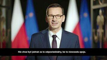 Wystąpienie premiera z tłumaczeniem na język polski
