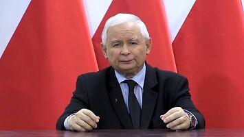 Kaczyński przemawia do narodu, ale tylko mlaska