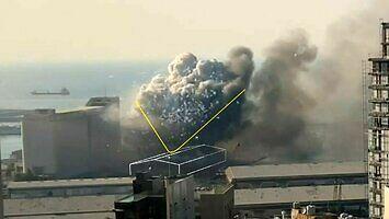Rekonstrukcja 3D wybuchu magazynu w Bejrucie