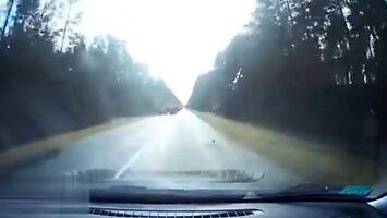 Śmiertelnie groźna niespodzianka na drodze