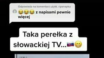 Wpadka słowackiego reportera na wizji