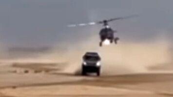 Kamaz zderzył się z helikopterem podczas Rajdu Dakar