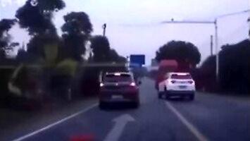 Niezły refleks kierowcy