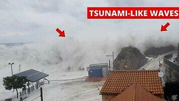 """Włoskie miasteczko nawiedzone przez fale """"tsunami"""""""