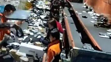 Sortownia paczek w Chinach