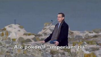 """W wieku 2 lat udusił Smoka Wawelskiego i pokonał """"imperium zła"""" - Morawiecki"""