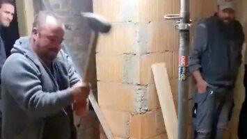 Inne zastosowanie butelki na budowie