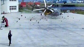 Katastrofa helikoptera podczas manewrów na ziemi
