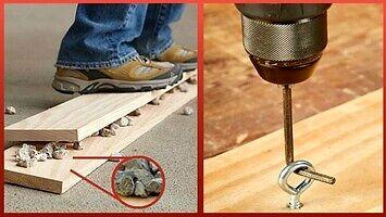 Proste tricki przydatne podczas pracy z drewnem