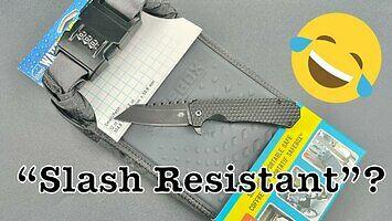 Odporny na cięcie przenośny sejf kontra kieszonkowy nóż