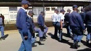 Musztra policjantów z RPA