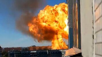 Potężna eksplozja na stacji benzynowej w Nowosybirsku