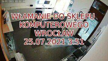 Włamanie do sklepu komputerowego we Wrocławiu