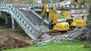 Szybka rozbiórka wiaduktu w Koszalinie
