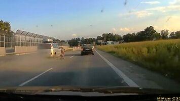 Bandyta drogowy, któremu bardzo się spieszy