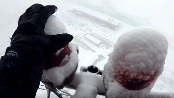 Zimowa wspinaczka BNT na najwyższy komin w Rumunii (350 m)