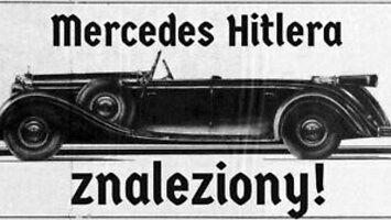 Mercedes Hitlera znaleziony na bocznicy kolejowej