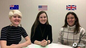 Język angielski, ale z Australii, UK i USA
